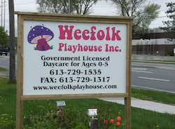 Weefolk sign